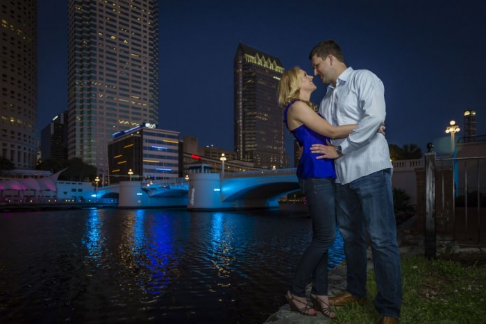 Night Tampa Wedding Photographer