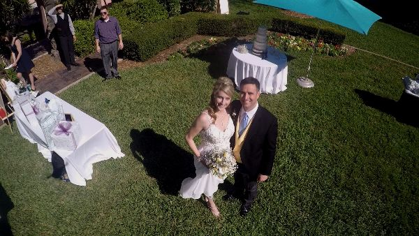 Wedding by drone celebrations of tampa bay wedding for Best drone for wedding video